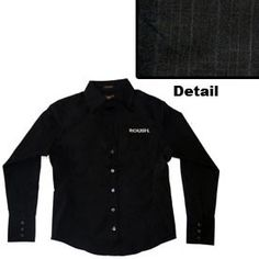 Roush Longsleeved Black Ladies Nyne Dress shirt (1584), $49.95 (http://store.roushcollection.com/roush/roush-longsleeved-black-ladies-nyne-dress-shirt/)