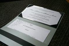 Pocket Wedding Invitation Pocket Invitation, Pocket Wedding Invitations, Invites, Special Events, Rsvp, Stationary, Photo Galleries, Wedding Day, Ribbon