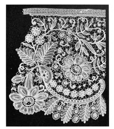 Duchesse Lace, a photo from 'Lace, Its Origin and History' by Samuel L. Goldenberg, 1904 (click to see in its entirety)
