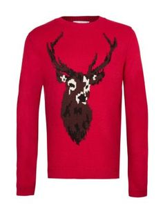 For mens fashion check out the latest ranges at Topman online and buy today. Topman - The only destination for the best in mens fashion Sweater Cardigan, Men Sweater, Red Y, Red Jumper, Tartan Scarf, Best Mens Fashion, Style Fashion, Mens Jumpers, Sweater Making