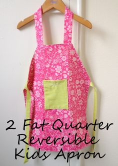Reversible Kids Apron - from 2 Fat Quarters - Sew Adorable Fabrics