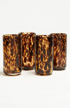 The gorgeous tortoise highball glass is the perfect accomplice to candle lit scenes. These designer glasses are of the highest quality, yet each are unique due Tortoise Shell, Tortoise Care, Humble Abode, My Dream Home, Decoration, Home Accessories, Home Goods, Shells, Sweet Home