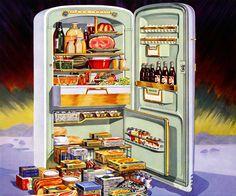 Plan59 :: Vintage Kitchen Appliances :: Mid-Century Modern :: Admiral refrigerator-freezers, 1954