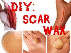 Scar Wax Recipe : DIY Scar Wax SFX Makeup 2 tbl cornstarch 1 tbl petroleum jelly 1 tsp foundation