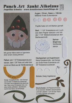 Punch Art Adventskalender Sankt Nikolaus #punchart #tutorial KreativStanz Stampin' Up! http://kreativstanz.bastelblogs.de