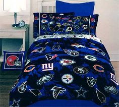 pic boys nfl football bedrom   NFL Kickoff - Bedding Comforter - Twin-Single Size