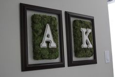 diy: textured letters...