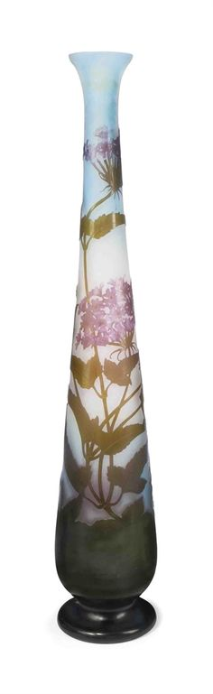 A TALL GALLÉ CAMEO GLASS DOUBLE-OVERLAY VASE - CIRCA 1900 by Gallé | JVEmille Galle'More Pins Like This At FOSTERGINGER @ Pinterest