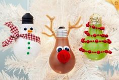 Ideas & Products: Light Bulb Christmas Ornaments