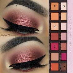 Pictorial of my previous post Lid eyeshadow (3) first apply it dry and the second coat wet to make the eyeshadow even more pigmented - - Used: BROWS: @mywunderbrow Brow Gel in Black/Brown EYESHADOWS: @anastasiabeverlyhills #modernrenaissance Palette EY http://amzn.to/2sD7AGk
