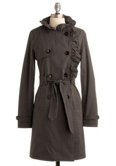 classic, chic, elegant - all wrapped up in one lovely coat; $109.99