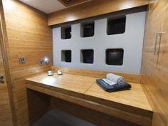 SKYLARK | Luxury yacht charters | Catamaran for charter | Sunreef Yachts Charter Sunreef Yachts, Skylark, Catamaran, Sailboat, Interior Ideas, Bathtub, Bathroom, Luxury, Sailing Boat