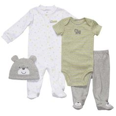 Amazon.com: Carter's Preemie Boys 4pc Set Bear Hugs: Clothing Cute Boy Outfits, Preemie Clothes, Baby Bug, Chubby Babies, Surprise Baby, Carters Baby Boys, Wishes For Baby, Baby Needs, Cool Baby Stuff