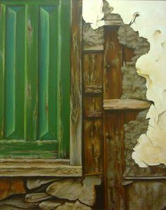 Puerta rural,  cuadro de Cristina Segura