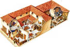 Roman domus with tabernae.