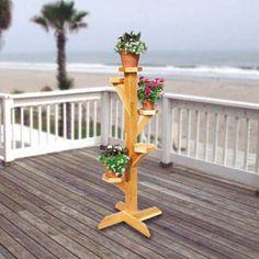 Spiral Pole Planter Woodworking Plan
