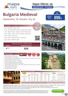 Bulgaria Medieval salidas Sept-Oct**Precio final desde 899** ultimo minuto - http://zocotours.com/bulgaria-medieval-salidas-sept-octprecio-final-desde-899-ultimo-minuto/