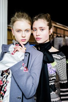 Backstage beauties at the Temperley London Winter '16 LFW show