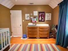 Use a versatile furniture piece to serve as a temporary changing table, and long-term dresser as baby grows up.