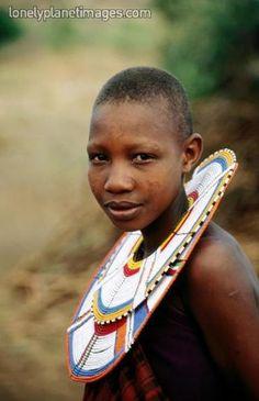Africa | Portrait of Maasai girl, Lake Manyara National Park, Tanzania | © Ariadne Van Zandbergen
