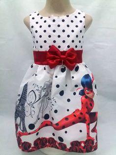 Vestido Ladybug Festa Infantil Tema Aniversário Ladybug. - R$ 119,90 em Mercado Livre