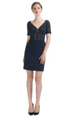 Shop J.Mendel Lace Short Sleeve Dress at Moda Operandi