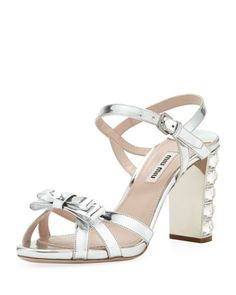 Metallic+Crystal-Heel+Bow+Sandal+by+Miu+Miu+at+Bergdorf+Goodman.