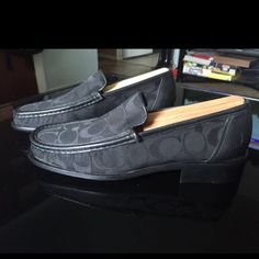 Women's COACH Vivian Loafers Slip-on shoes Women's COACH Vivian Loafers Slip-on shoes size 6 B Black Fabric & Leather. Only worn twice. Coach Shoes Flats & Loafers