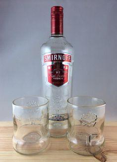Smirnoff Short Rocks Tumbler Glasses - set of 2 on Etsy, $20.00