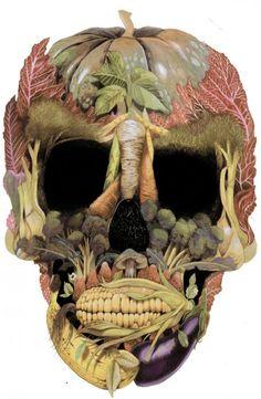 Vegetable Skull