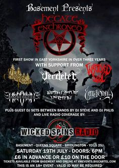 July 19†h 2014 Dj Steve, Radio Band, East Yorkshire, Festivals, Wicked, Tours, Metal, Movie Posters, Film Poster