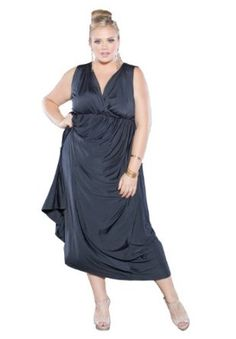 Sealed with a kiss designs plus size classic maxi dress in white