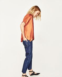 Image 5 of OVERSIZE BLOUSE from Zara