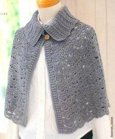 Irish crochet &: CAPE. НАКИДКА.