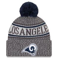 buy online 86f93 9fff6 Los Angeles Rams New Era 2018 NFL Sideline Cold Weather Graphite Sport Knit  Hat – Graphite