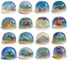 Vintage California Landmarks Snow Globes
