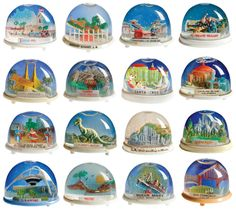 memori, snow globes, vintage snowglobe, souvenir