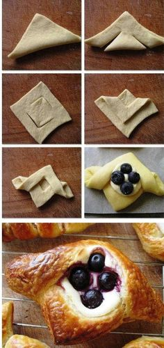 41 ideas for fruit cake loaf cream cheeses Sweet Pastries, Bread And Pastries, Danish Pastries, Fruit Cake Loaf, Pastry Design, Bread Shaping, Pastry Art, Choux Pastry, Pastry Shop