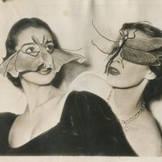 Bat and insect masks, Paris 1950
