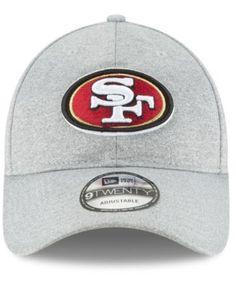 New Era San Francisco 49ers Heather Leisure 9TWENTY Cap - Gray Adjustable