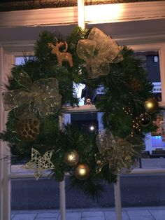 Christmas wreath we made