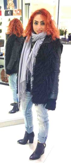 DIY fur vest outfit you can make from an old zip up or your man's hoody. Super easy and can be done in 2 hours tops!