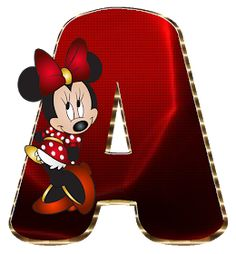 Mickey Mouse Letters, Minnie Mouse Images, Mickey E Minnie Mouse, Minnie Png, Disney Alphabet, Cute Alphabet, Alphabet Letters, Minnie Mouse Background, Indian Embroidery Designs
