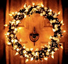 mixed lights    add lights to my wreath outside like this look  DID...R.