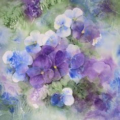 Purple Pansies Kathryn Wickson