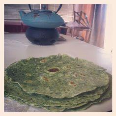 Alyssa, Naturally: Whole Wheat Spinach Tortillas