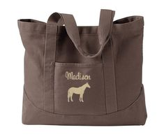 Personalized Horse Tote with name  Equestrian Tote Bag  7
