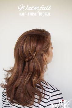 Looking for a quick hairstyle but still want a pretty way to pin your hair back? My Waterfall...