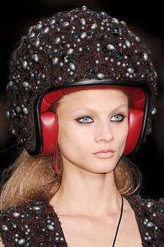 Jewel crusted motorcycle helmet