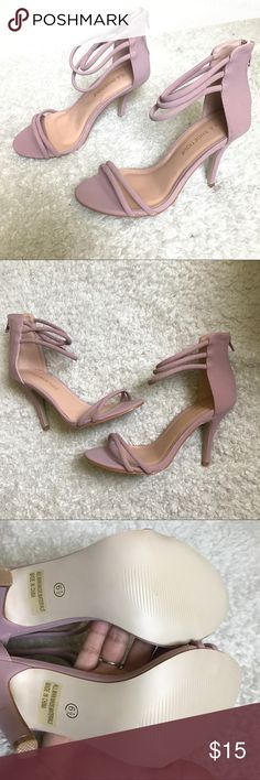 Lola Shoetique Pink strapped heels BRAND NEW NEVER USED Lola Shoetique Pink strapped heels. Suede like material. Size 6.5 US women :) Steve Madden Shoes Heels